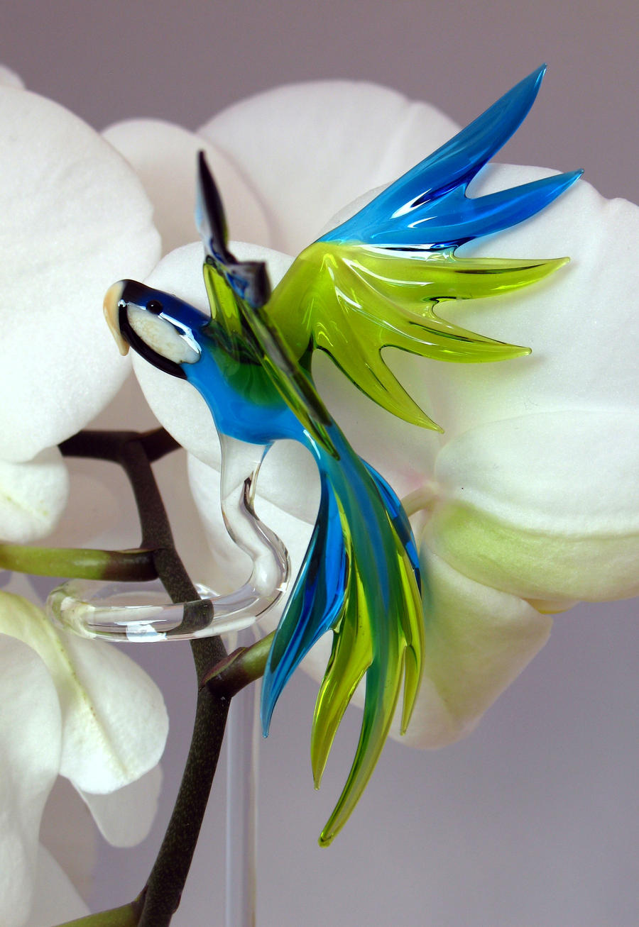 Parrot - orchid rod by Glasmagie