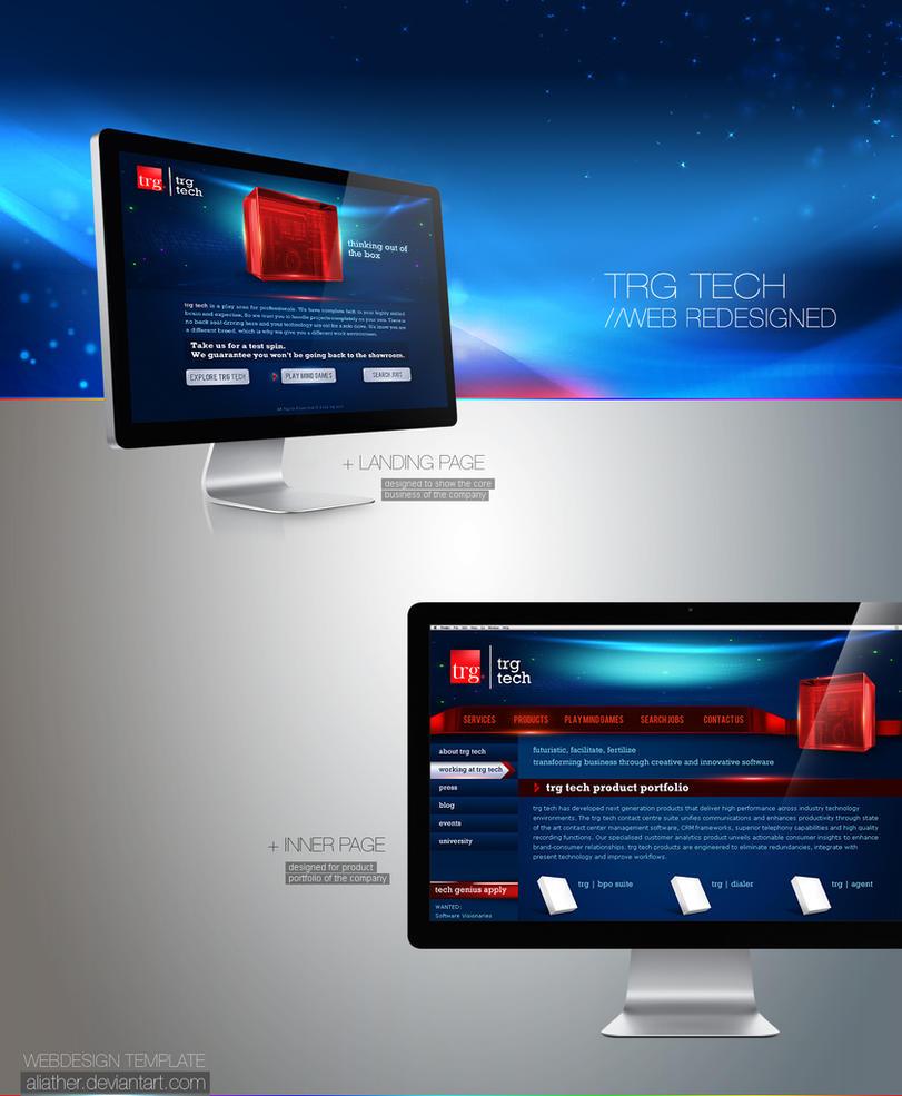 TRG Tech Web Design by aliather