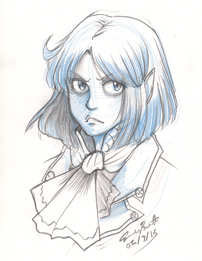 Bust Sketch - Eliza by bittermause