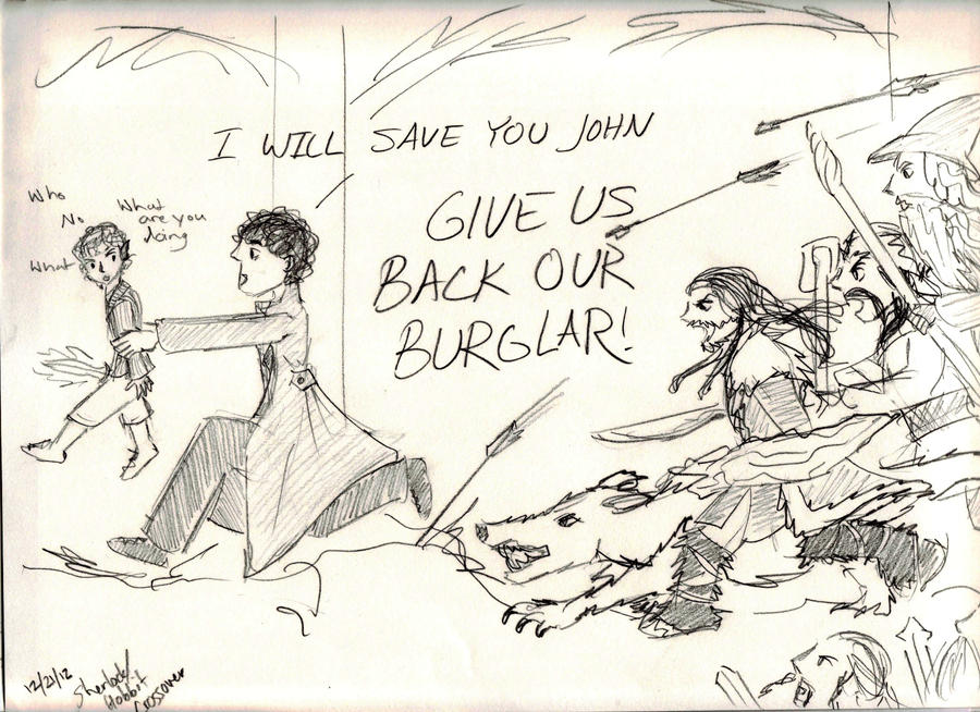 Sherlock Steals Bilbo by Hasami-hime