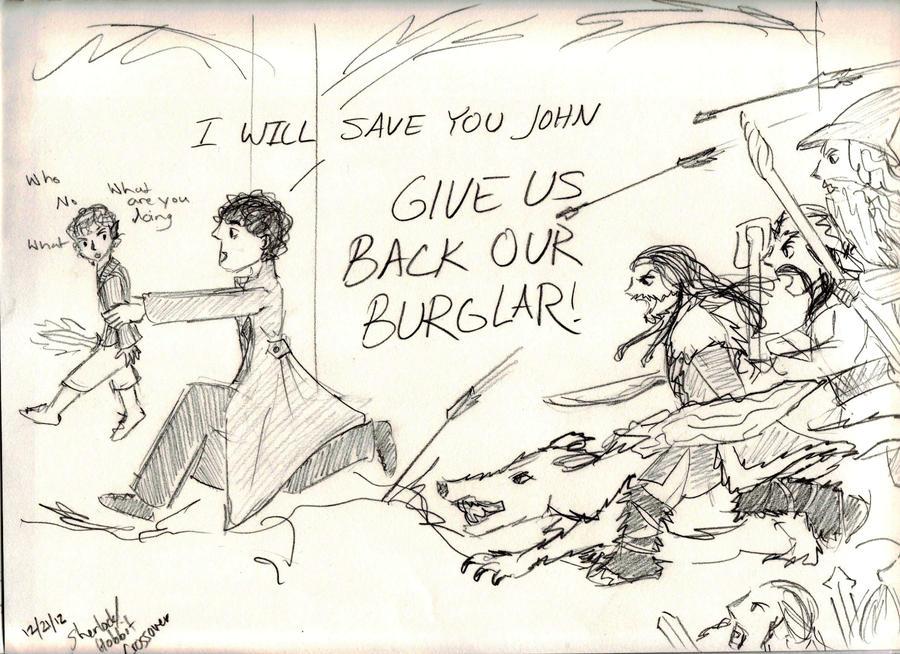 Sherlock Steals Bilbo by Hasami-hime