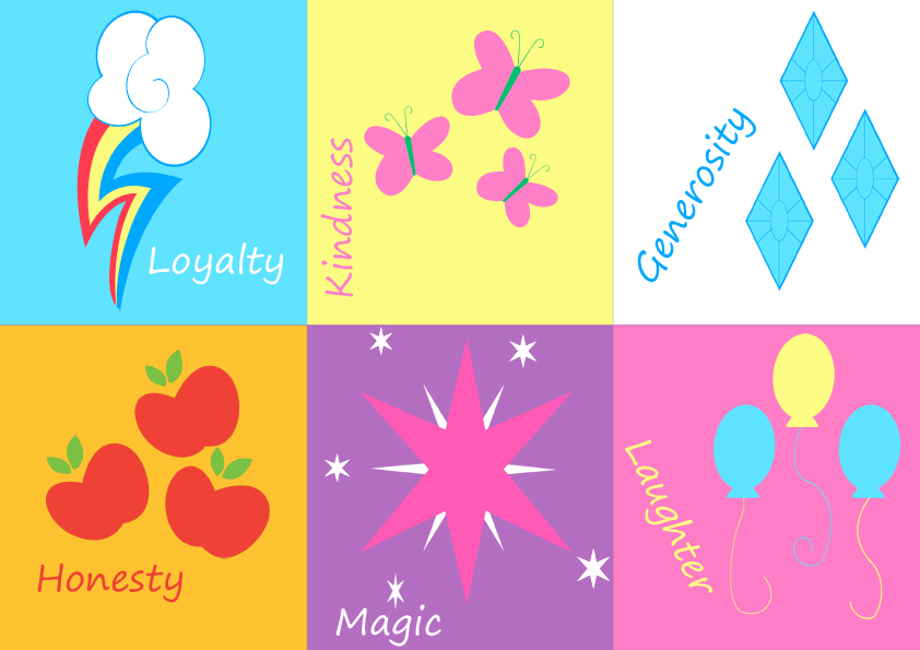 My little pony mane 6 cutie mark poster by rhiaxxify on - My little pony cutie mark wallpaper ...