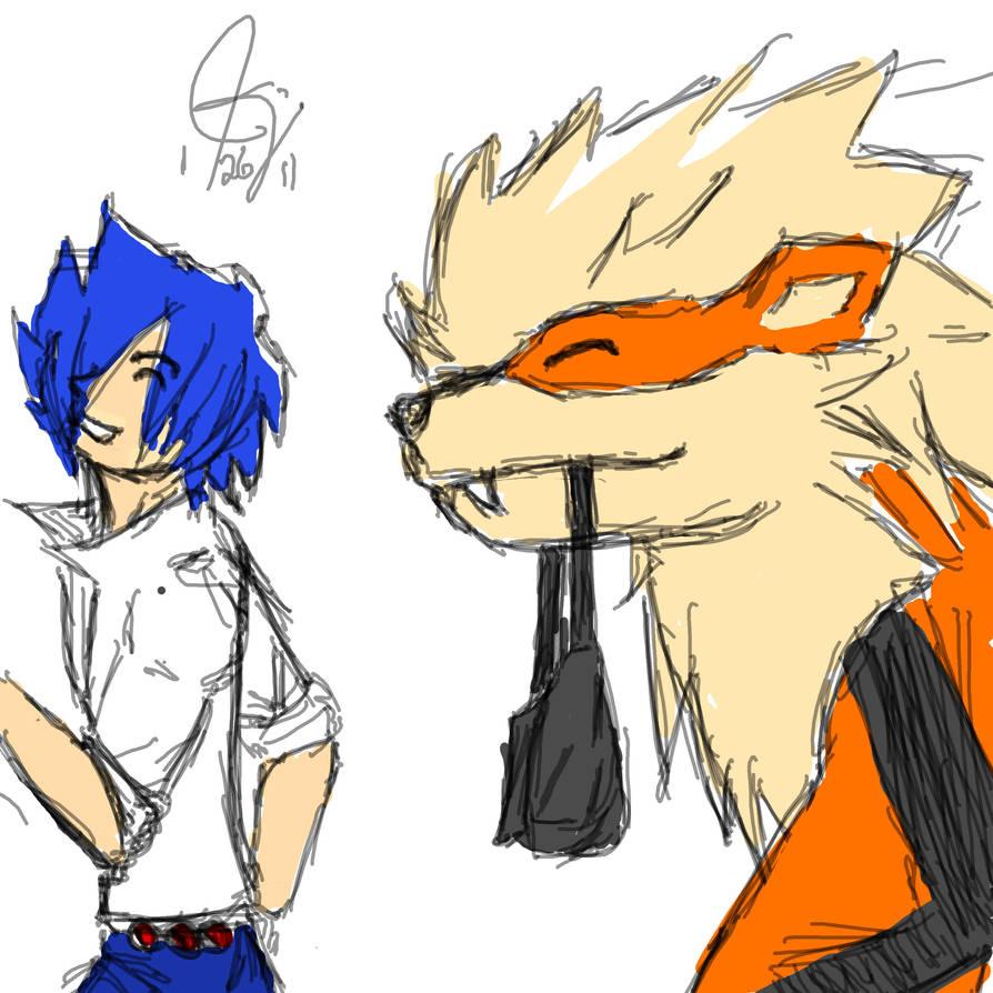 A boy and his Arcanine