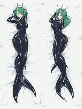 Latex Mermaid Dragon Girl in the morning