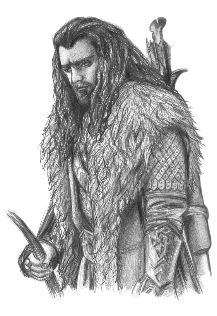 thorin oakenshield by sahino - Hobbit Dwarves Coloring Pages