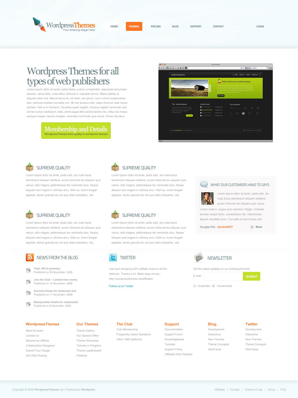 WordpressThemes by DouglasEltz
