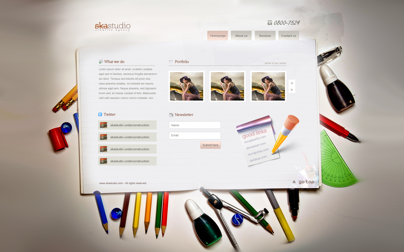 notepad web template