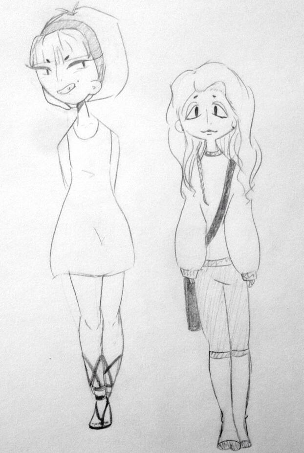 Cute girls by JuliaZeldaMiraglia