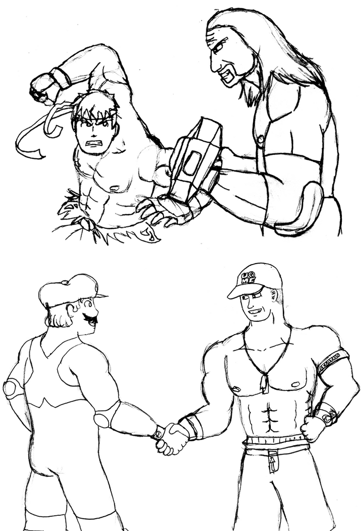 i tolerate you coloring page - wwc x wwe sketches by soryukey on deviantart