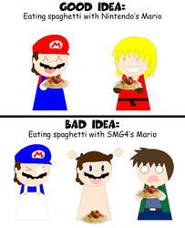 Good Idea, Bad Idea: Spaghetti with Mario
