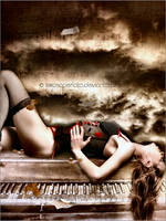 ::The piano and the rose:: by larosaperlata
