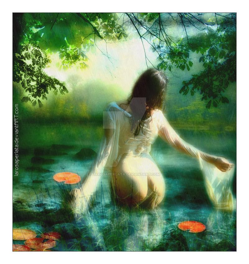 ::Kiss the rain:: by larosaperlata