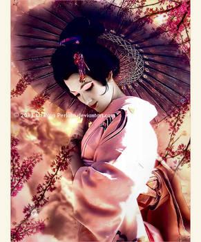 .In my kimono.