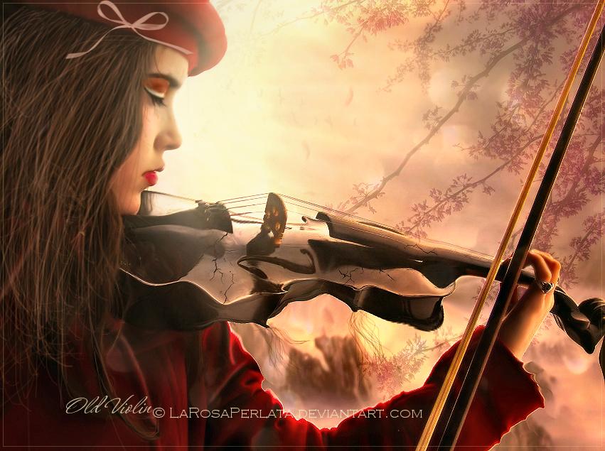 .Old violin. by larosaperlata