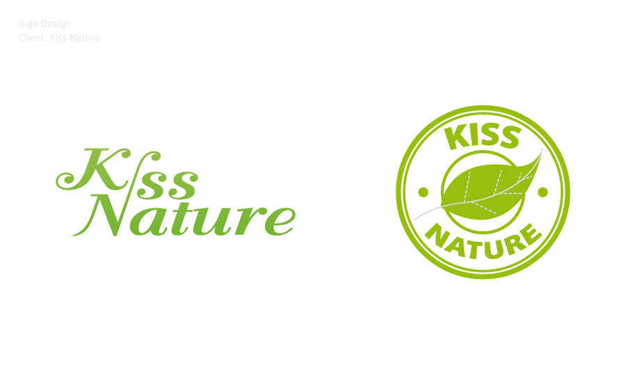 Nature Inspired Logo Kiss Nature Logo by