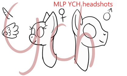 [Open YCH]My Little Headshots by CraftedArtist