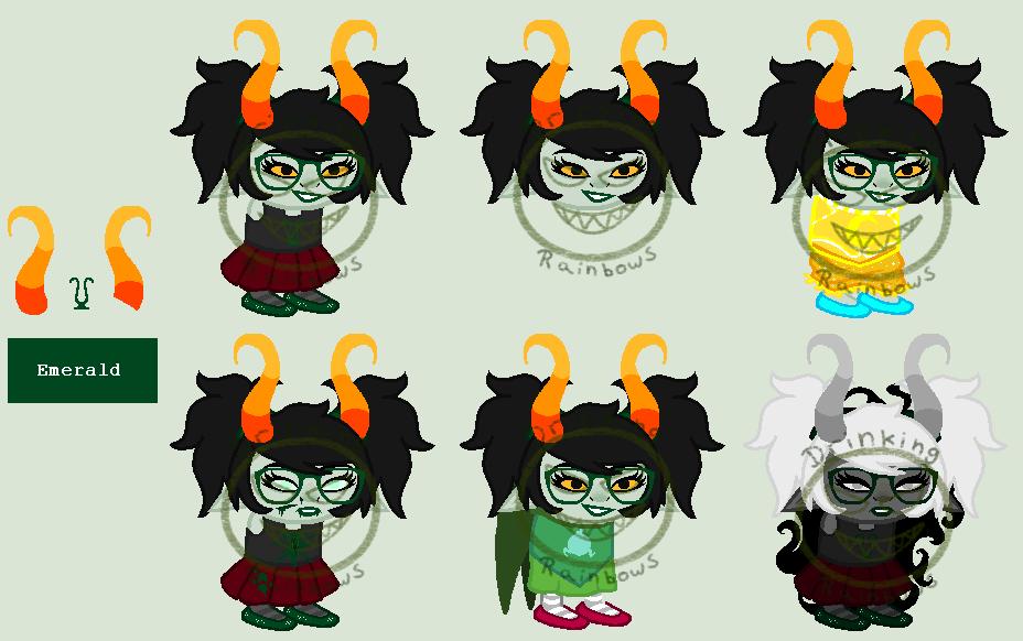 Emerald Troll Adopt (Bidding) [CLOSED] by Grandmommyo on