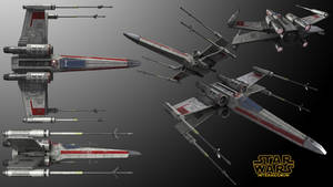 Alliance X-Wing Starfighter Multi-View