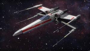 Alliance X-Wing Starfighter Render 1