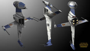 Alliance B-Wing Starfighter Multi-View