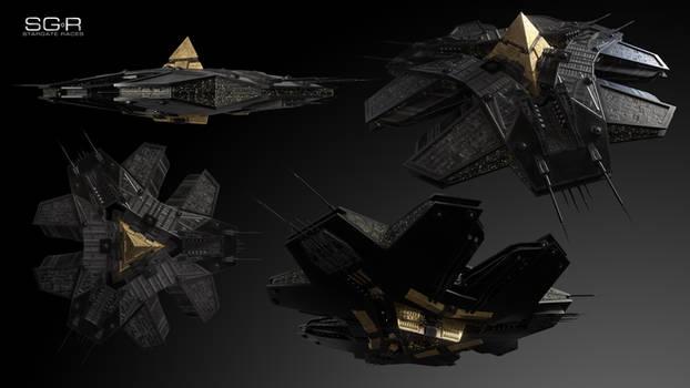 Goa'uld Osiris Class Carrier v2 Multi-View