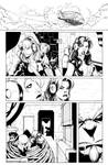 She-Hulks issue 3 page 1 bw
