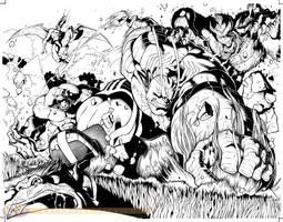 Hulk vs Dracula spread by RyanStegman