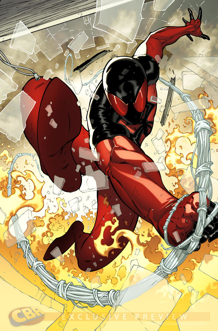 Scarlet Spider splash 2 by RyanStegman