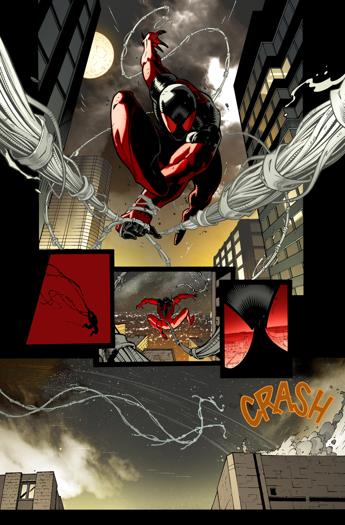 scarlet spider 3 page by RyanStegman