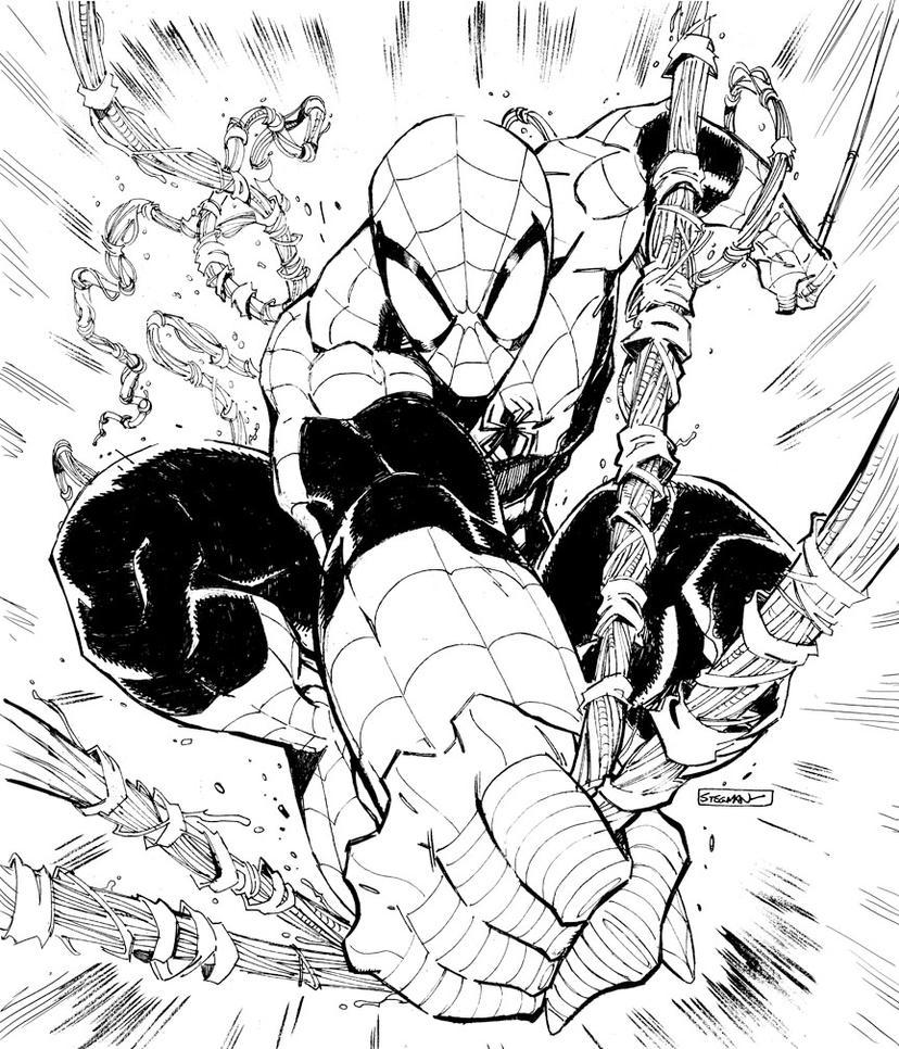 spider-man commission inks by RyanStegman