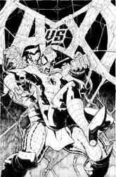Avengers vs XMen issue 9 variant inks by RyanStegman