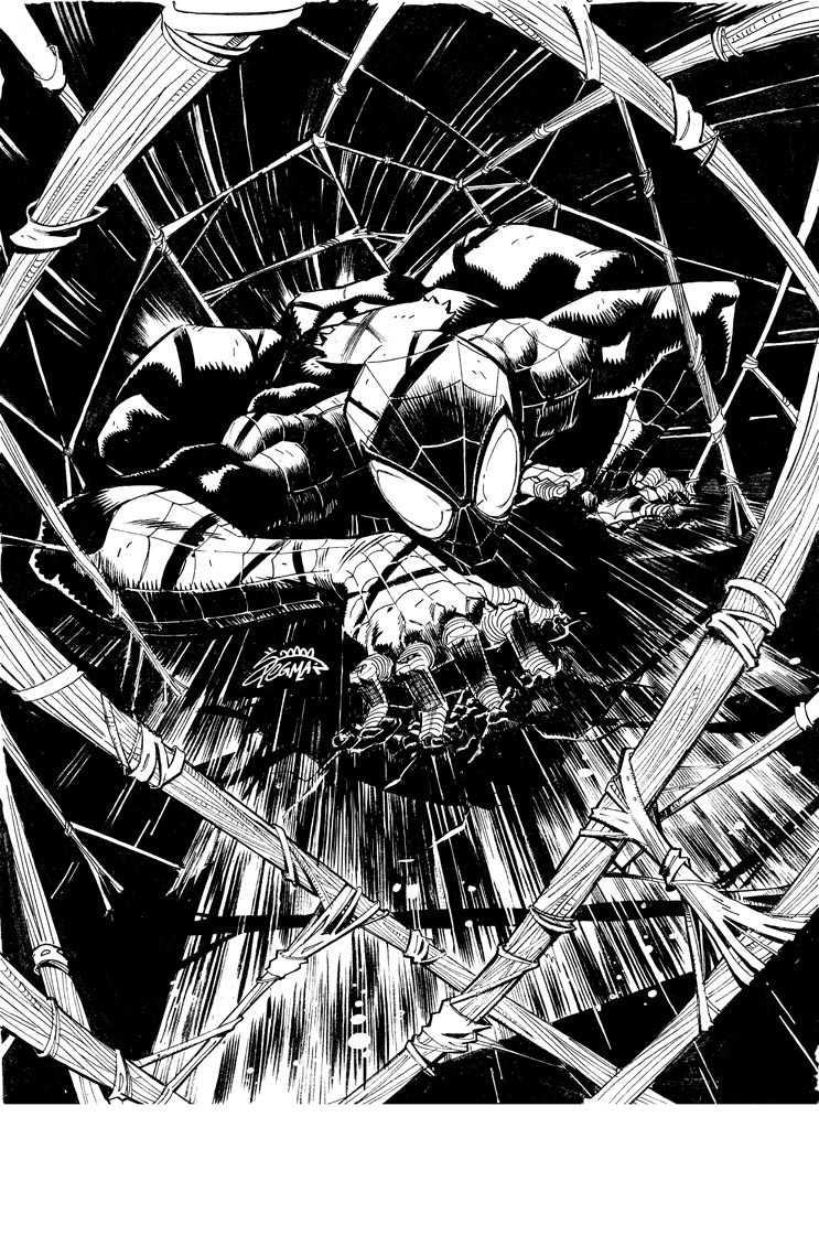 Superior Spider-Man inks by RyanStegman