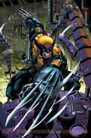 A splash page from Wolverine 1 by RyanStegman