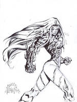 Witchblade daily sketch by RyanStegman