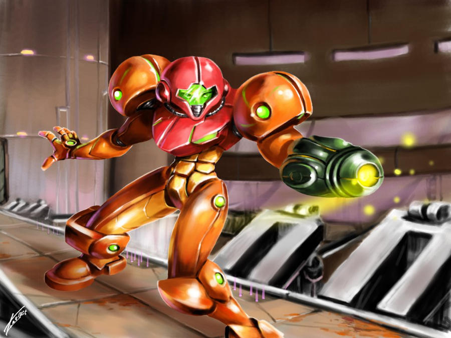 My First Completed Metroid Fan Art By TomycaseTheSame