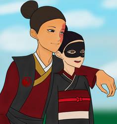Ikiryo and Tamotsu by Emeraldsky58