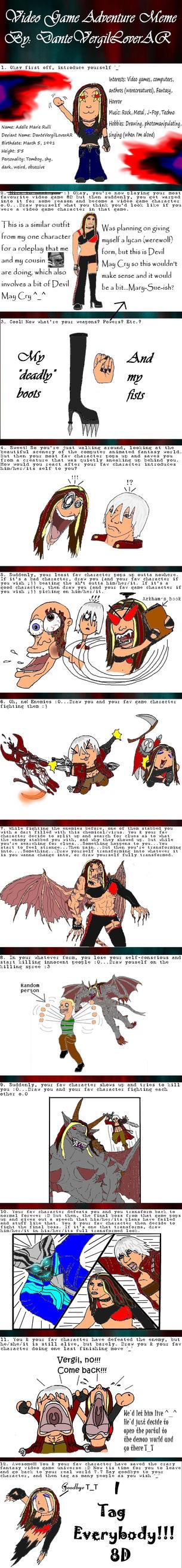 My VG Adventure Meme by DanteVergilLoverAR
