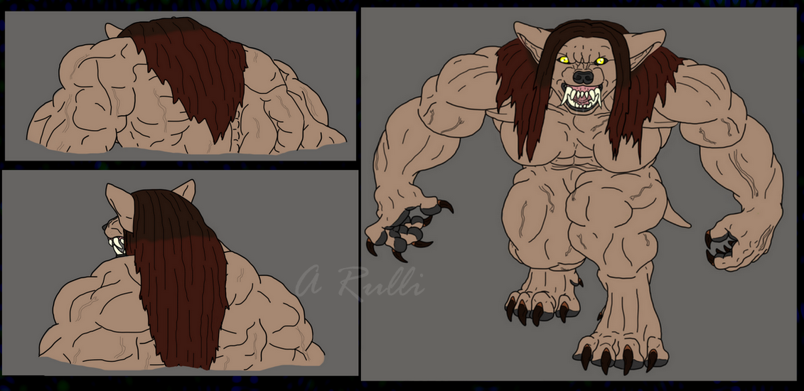 Furless Werewolf TF Final Scene: Clean Ver. by DanteVergilLoverAR