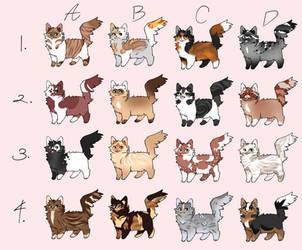 16 Kitties in a Kitty Cat Adopt Batch (OPEN) by Scarlet-Tea