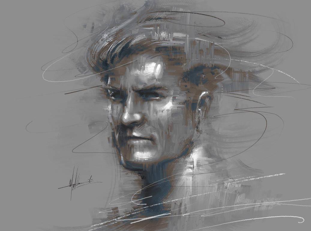 James by Michael Adamidis Portrait PS Oil Brushes