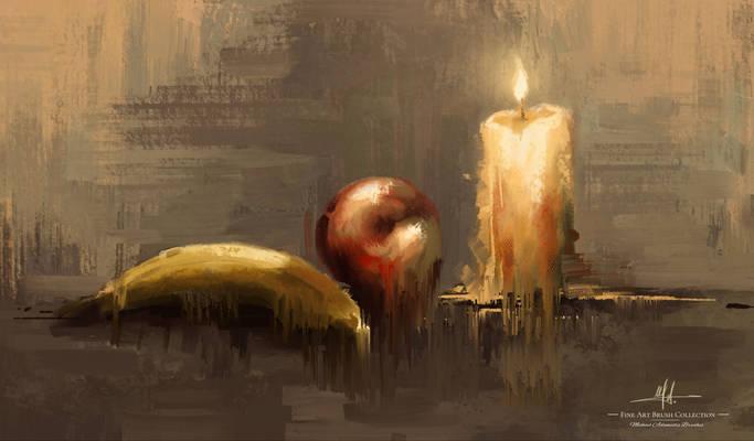 Abstract Still Life Michael Adamidis Brushes