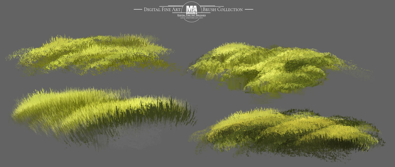 MA-Brushes Realistic Photoshop Brushes for Grass