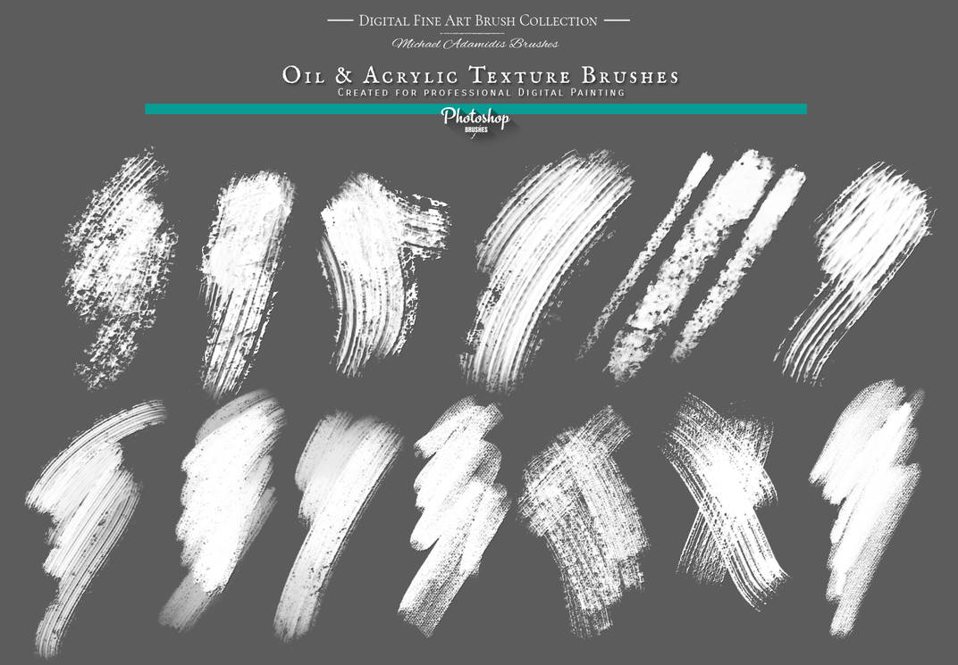 Realistic Photoshop Oil Texture Painting Brushes by