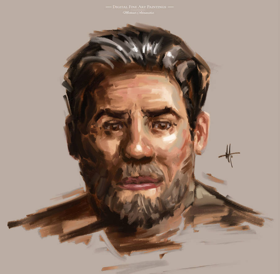 Digital Portrait painted with the MA-Brushes