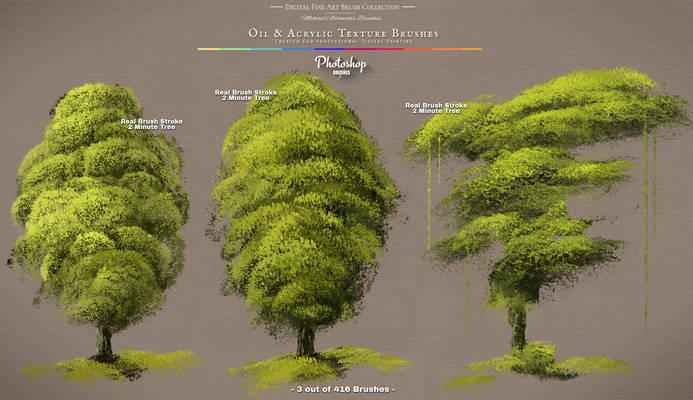Photoshop Realistic Painting Tree Brushes / Brush