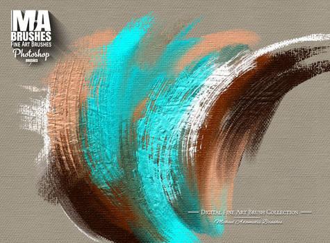 Photoshop Brushes Oil Painting Texture Brush Pack by MichaelAdamidisArt