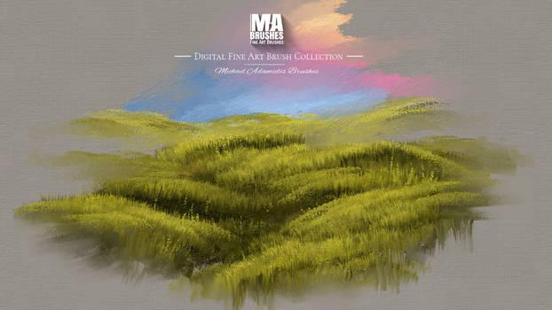 Photoshop MA-BRUSHES for painterly Landscapes by MichaelAdamidisArt