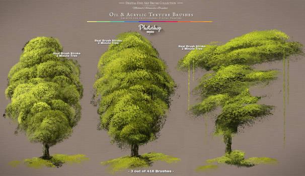 Photoshop Foliage / Grass / Tree / Leave Brushes by MichaelAdamidisArt