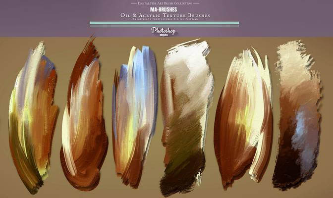 Photoshop Brushes - Oil Painting Texture Brush Set