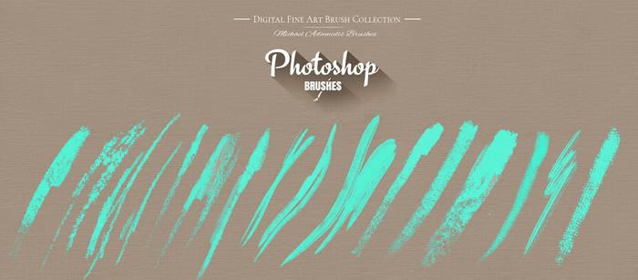 Photoshop Portrait Oil Painting Texture Brush Pack by MichaelAdamidisArt